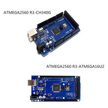 For Arduino MEGA2560 R3 Development Board ATMEGA2560-16AU2 CH340G without line(China)