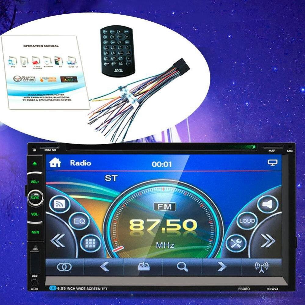 7in 2Din 800 * 480 Car Stereo Radio DVD Player USB Bluetooth FM автомобильный dvd плеер joyous kd 7 800 480 2 din 4 4 gps navi toyota rav4 4 4 dvd dual core rds wifi 3g