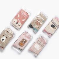 2018 OLN 6 Pairs/lot Korean Socks Women Cotton Cute Cartoon Fox Panda Rabbit Animal Socks Calcetines 6 colorss
