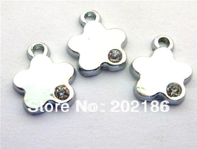100 шт. Цветок Повесьте Подвески Fit Pet Воротник Ожерелье для Мобильных Телефонов Подвески