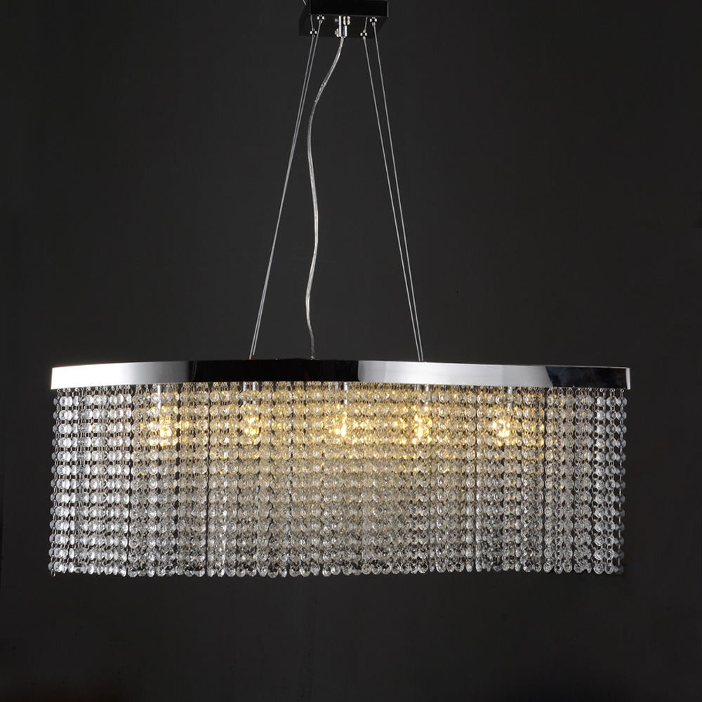 Luxury stainless steel chandelier led lamps vertical crystal 4 1 mozeypictures Gallery