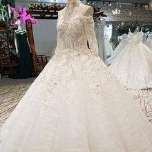 AIJINGYU suknia ślubna (zjednoczone królestwo wielkiej brytanii) Sexy suknie rury ogród brazylia Imperial luksusowe popularne sukienki satynowe suknia ślubna