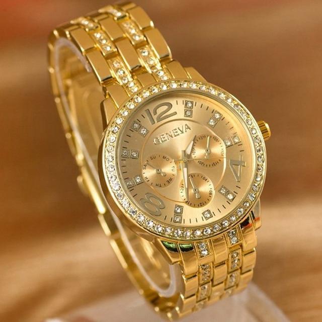 Zegarek damski GENEVA elegancki kryształki różne kolory