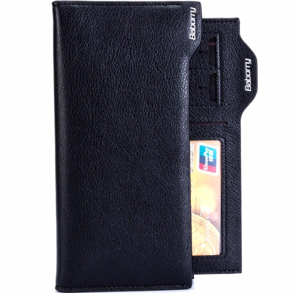 Brieftasche Männer Großhandel Diebstahl Geldbörse Schwarzes Rfid los Schützen Teile 50 Geldbörsen Berühmte Brieftaschen Marke Lange kakifarbig vSrdqwS