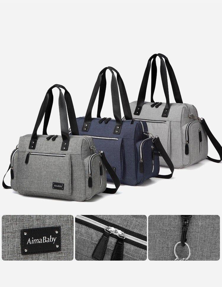 Grand sac à couches organisateur marque Nappy sacs bébé voyage sacs de maternité pour mère bébé poussette sac à langer sac à main