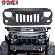 ABS Matte Black Chrome Front Bumper Angry Brid Grille Grill For Jeep Wrangler JK 2007 2008 2009 2010 2011 2012 2013 2014 2015