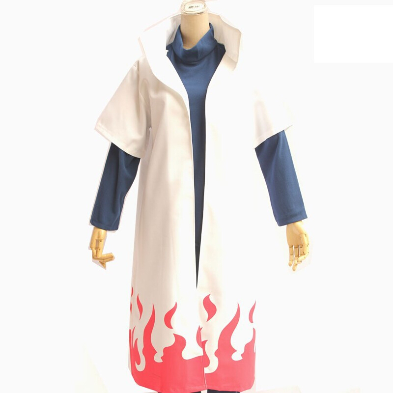 Hot Anime Naruto Cosplay Costumes Fourth Hokage Namikaze Minato Cape Outfit Cosplay Cloak S-2XL