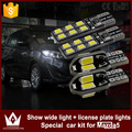 Night Lord 4pcs T10 Led No Error W5W Led License Plate Bulb Clearance Width Lights Led Car Light Canbus for Mazda 5