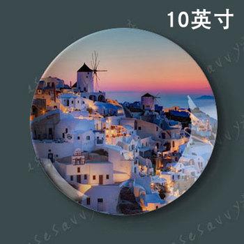 10 cal europejska śródziemnomorska styl ozdobny talerz restauracja Cafe tło hotelowe ścienne płyta wisząca talerz ceramiczny tanie i dobre opinie sunchamo Ceramiczne i emaliowane Europa Zwierząt