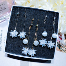 DREJEW Snowflake Flower Butterfly Rhinestone Statement Earrings 2019 925 Crystal Drop Earrings for Women Fashion Jewelry HE968 a suit of graceful rhinestone butterfly earrings for women