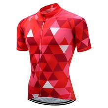 0156794ef CUSROO red diamond Retro Classic Cycling Jersey Men Short Sleeve Breathable  Quick Dry Bike Clothing Summer