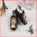 SDMOCCS Brand Brand Baby Genuine Leather Moccasin Brown Soft Sole Baby Boy Shoes Lion Animal Infant Toddler First Walkers