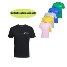 38dadaf9ea Neue mode herren 100% baumwolle t shirts neue big boss brief drucken t shirt  kurzarm