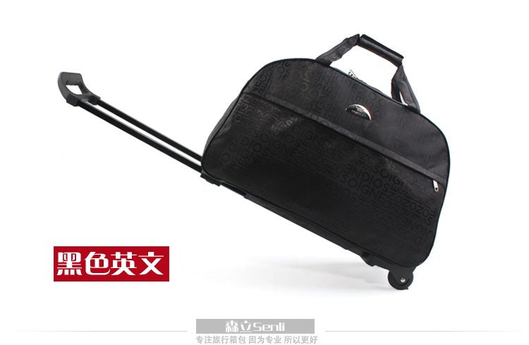 2017 New Arrivals Women Travel Luggage Bag With Wheels Female Trolley Bags Draw Bar Men Handbag In From