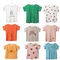 Meninos da Camisa de T de Algodão de Manga Curta 12 M-8 T Do Bebê Meninas T-shirt Crianças dos miúdos Meninos Moda Verão Tops Tees Roupas Bobo Choses 2017
