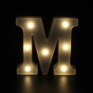 Image 2 - 3D White 26 Letter Alphabet LED Light Marquee Sign Night Light Wall Hanging Lamp Bedroom Wedding Birthday Party Decor