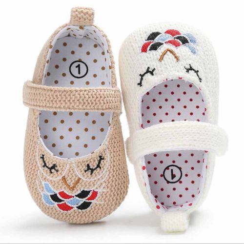 Adorable Baby Girls Infants Summer Flower Crib Sole Shoes Prewalker 0-18M