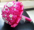 High Quality Handmade Rose Pearl And Diamond Wedding Bouquet