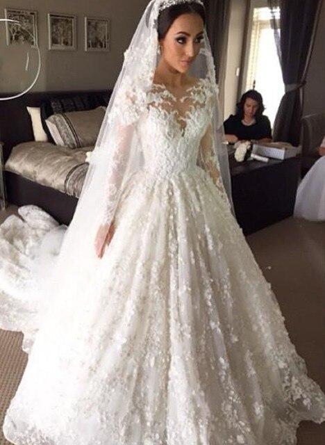 Hochzeitskleid China Luxus Spitze Appliques Braut Ballkleid lange ...