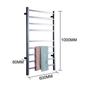 Image 4 - Yijin HZ 919A Wall Mounted Style Towel Warmer Electric Heated Towel Rail Bathroom Towel Shelf Towel Holder Rack Stainless Steel