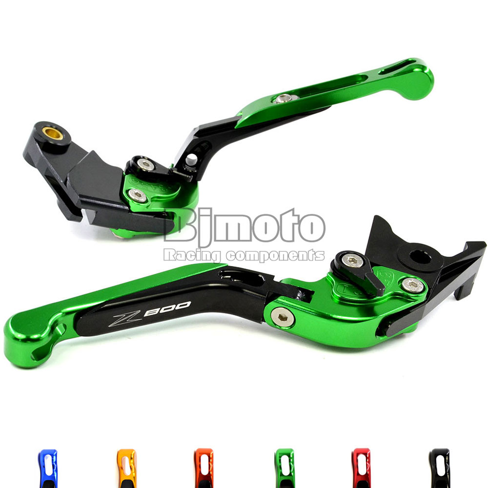ФОТО Green Motorcycle Adjustable CNC Aluminum Brakes Clutch Levers Set Motorbike brake For Kawasaki Z800 E version 2013 2014 2015 16