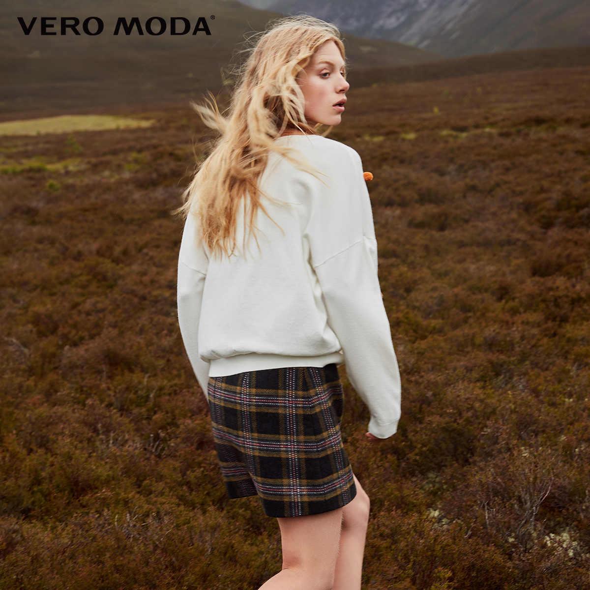 Vero Moda Женская шерстяная клетчатая юбка миди на молнии   318316504