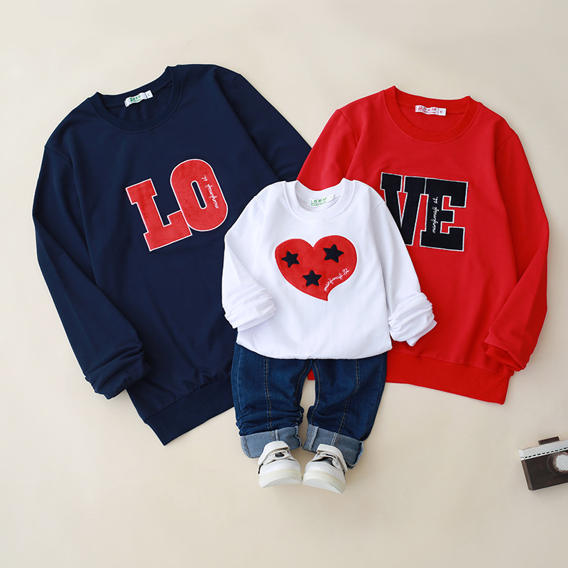 matching clothes mother and daughter clothes look LOVE sweatershirts clothing cotton hoodies outfits