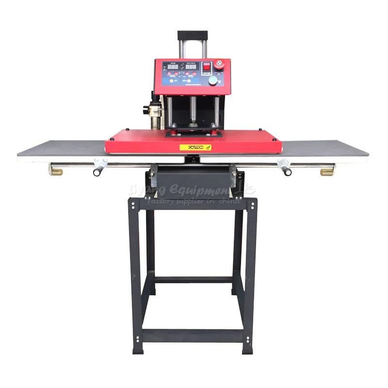 Automatic pneumatic heat press machine hot stamping machine thermal heat transfer machine 40 * 60CM E10066 pneumatic heat press machine t shirt for sale double hot plate lcd table