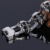 Encantos de jóias por atacado Homens pulseira de aço inoxidável 316L pesado motociclista homens jóias crânio pulseira atacado