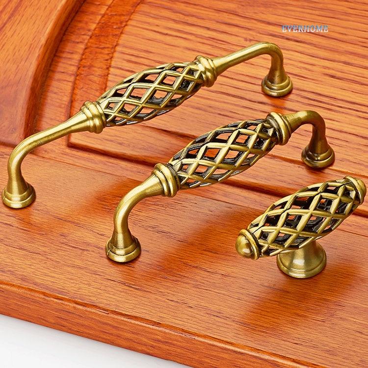 Бронза ящиками, ручки, сад клетка, европейские антикварные шкаф, мебель для Кабинета, двери шкафа ручка, птичье гнездо ручка