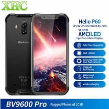 """Blackview BV9600 Pro IP68 wodoodporny 6 GB + 128 GB telefon komórkowy 6.21 """"Octa Core Android8.1 ładowania bezprzewodowego NFC smartfon dual sim"""