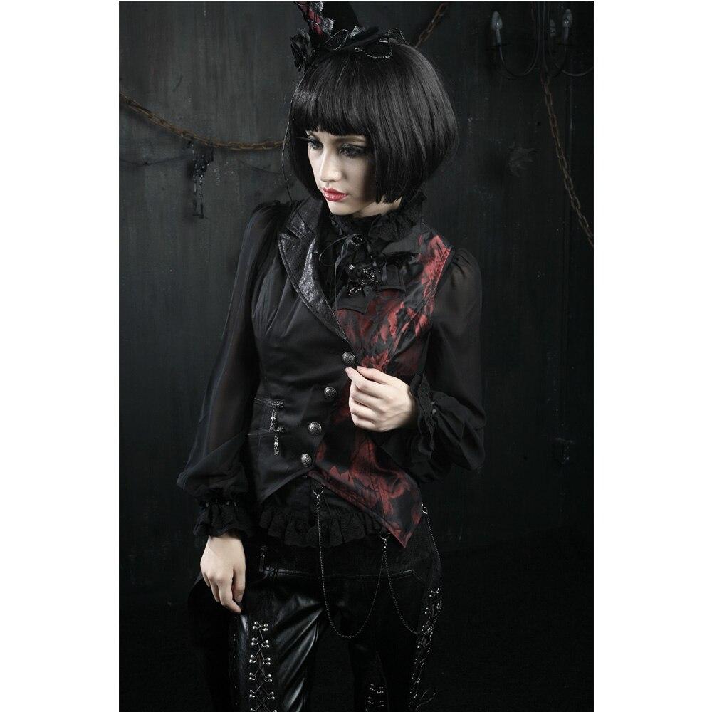 Gothique Hommes Femmes Punk Rave Visual Kei Gilet Rock mode vêtements vampire Veste Y330