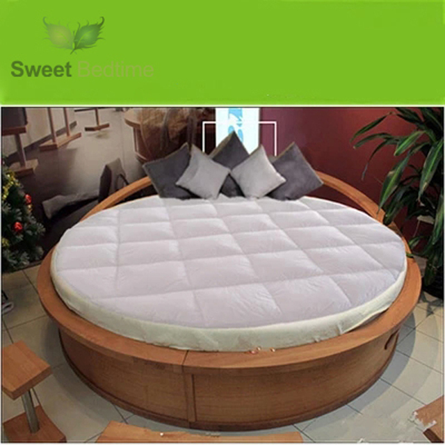 Custom Made Round Bed Topper Down On Top Featherbeds Feather Tatami Mats King Queen Mattress Pad Protector Cover Floor