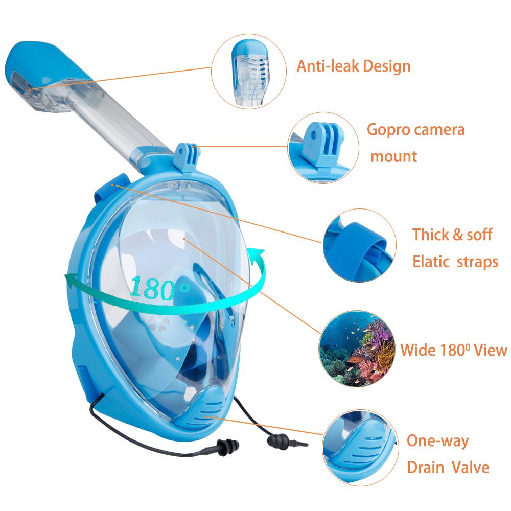 485772e88 YaHey 2018 Full Face Máscara Anti-fog de Natação Snorkel Subaquática de Mergulho  Máscaras de mergulho Equipamentos de Mergulho Para GoPro CompatívelUSD ...