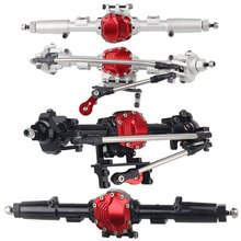 Durable Use SCX10 II Alloy Front Rear Straight Complete Axle for 1/10 RC Crawler Car Axial SCX10 II 90046 90047 Upgrade Parts
