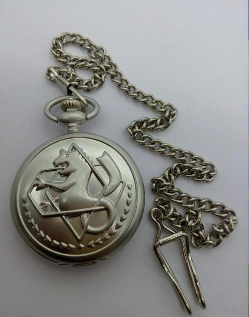 full metal Alchemist men gift quartz Good quality steampunk FOB chain pocket wat