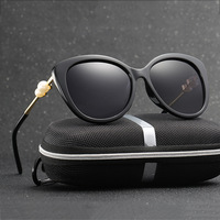 HDCRAFTER Womens Polarized Cat Eye Sunglasses Women Brand Designer Retro Driving Sun Glasses Eyewear Accessories Shades