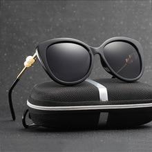 HDCRAFTER Женщин Поляризованный Cat Eye солнцезащитные очки женщины марка дизайнер Ретро Вождения Солнцезащитные Очки Очки Аксессуары оттенки