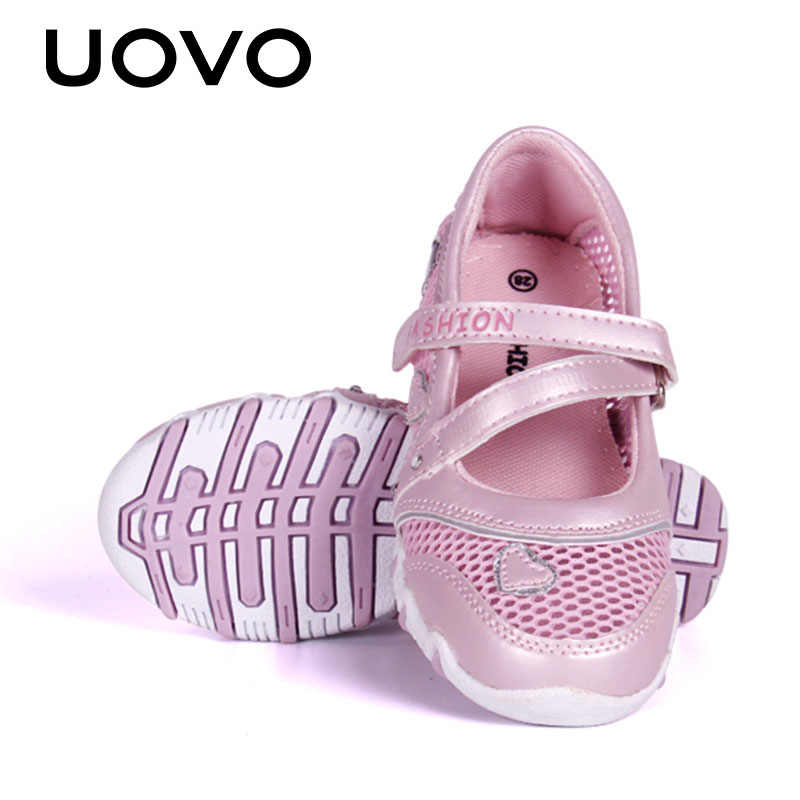 UOVO אביב נעלי ילדים בנות נסיכת נעלי 2020 לנשימה רשת נעליים לילדות קטנות קריקטורה דירות ילדי גודל 27 #-33 #