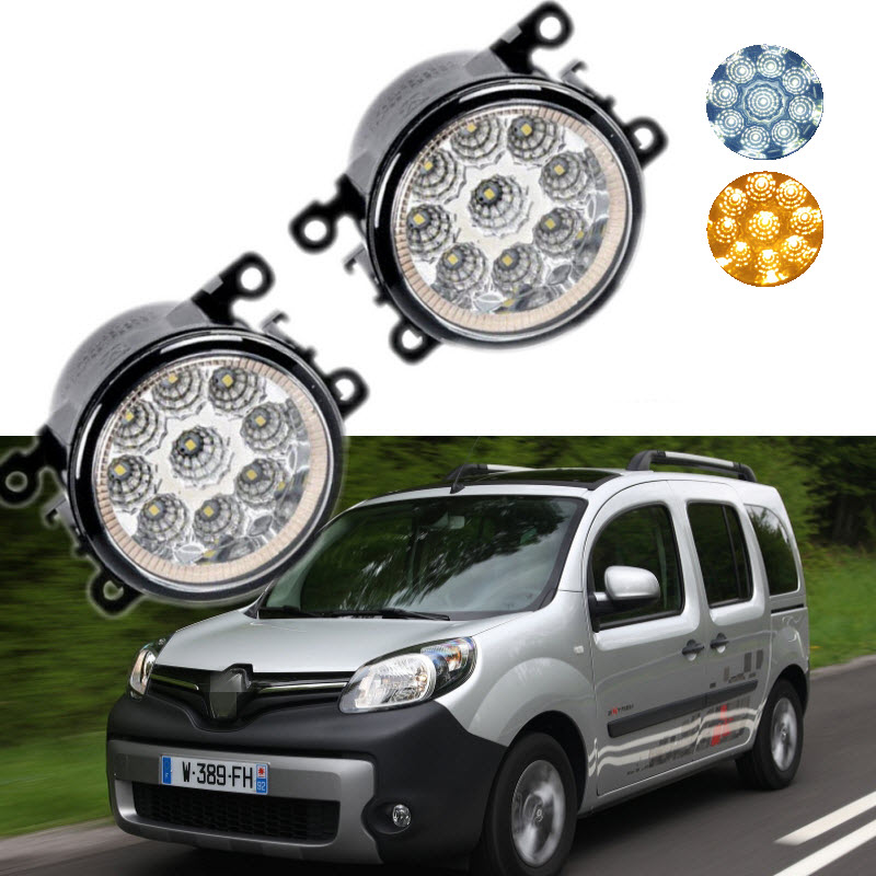 For Renault Kangoo 2007-2016 9-Pieces Leds Chips LED Fog Light Lamp H11 H8 12V 55W Halogen Fog Lights car styling for dacia renault sandero 2010 2016 9 pieces leds chips led fog light lamp h11 h8 12v 55w halogen fog lights