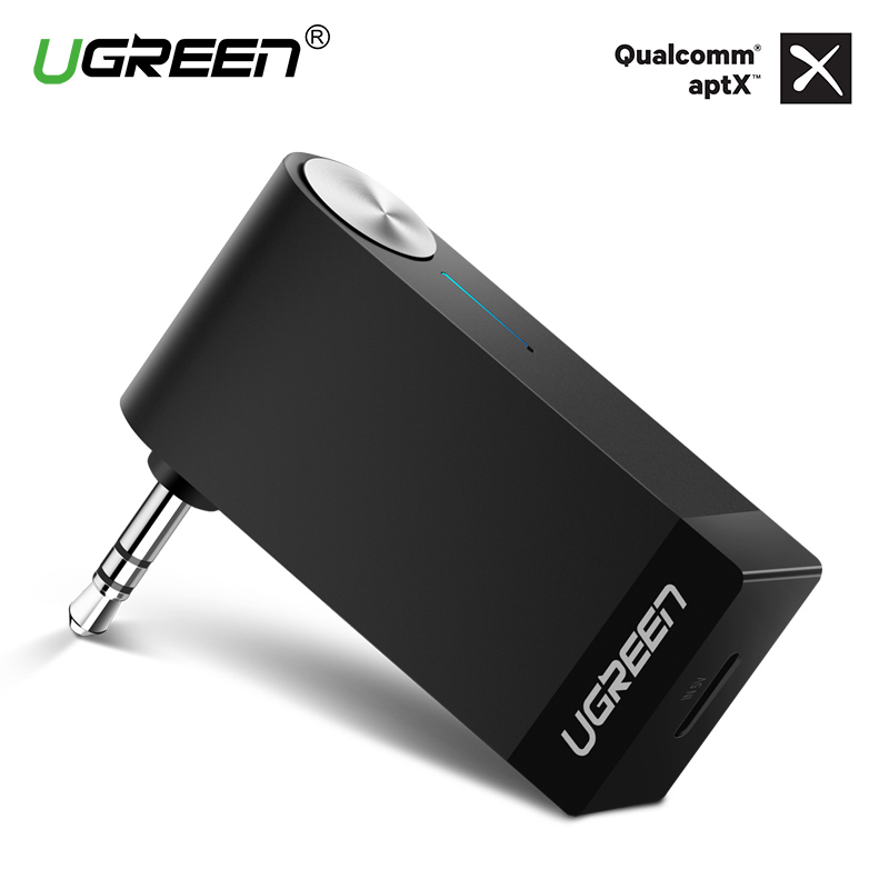Ugreen Bluetooth Receiver 4.2 Wireless Bluetooth Audio Receiver 3.5mm Car Aux Bluetooth Adapter for Speaker Headphone Hands-free bc07 vehicle bluetooth audio receiver hands free adapter black