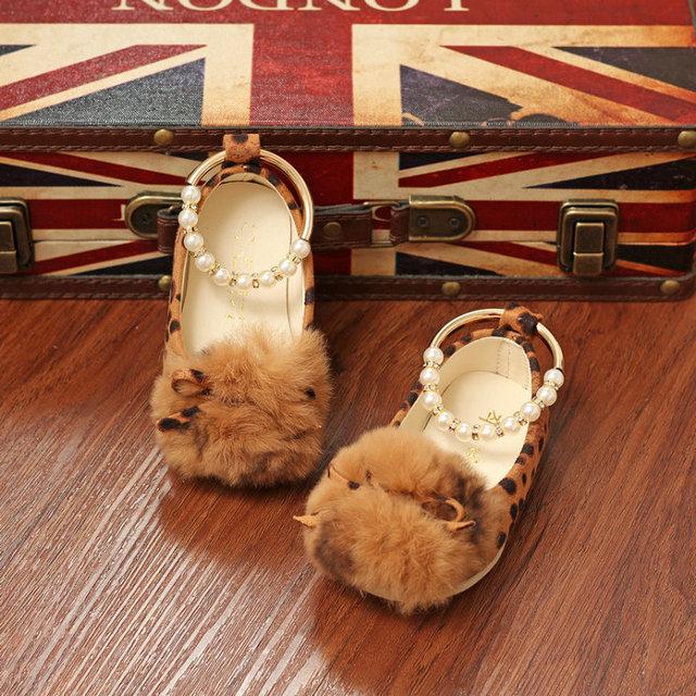 Sapatas das meninas do bebê nova primavera Leopardo do bebê sapatos princesa moda outono primeiros caminhantes sapatos da criança meninas sapatos pérola sólida