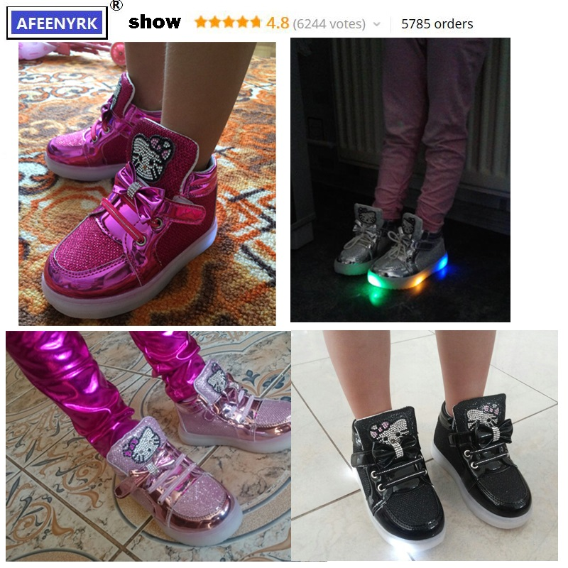 New-Girls-shoes-Baby-2016-Fashion-Hook-Loop-LED-Kids-Light-up-Glowing-sneakers-little-girl-princess-Children-shoes-with-light-2