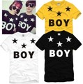 New Male Women Bigbang GD Boy London Five-pointed Star Printing   Short-sleeve T-shirt-DX450