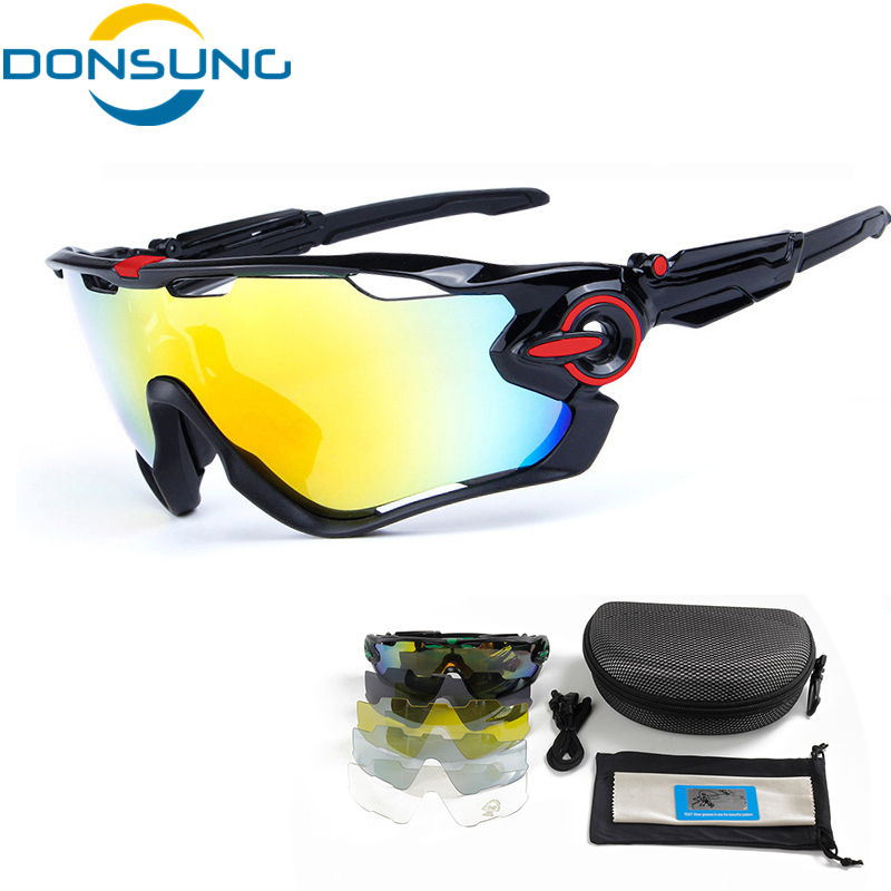 DONSUNG Sports Cycling Sunglasses Polarized Adjustable Leg TR 90 Frame 5 Lenses MTB Bike Sport Glasses Goggles Bicycle Eyewear obaolay outdoor cycling sunglasses polarized bike glasses 5 lenses mountain bicycle uv400 goggles mtb sports eyewear for unisex