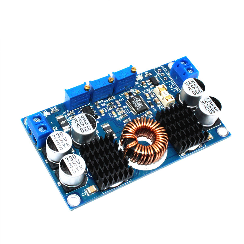 DC 5V-32V to 1V-30V 10A LTC3780 Automatic Step Up Down Regulator Charging Module ...
