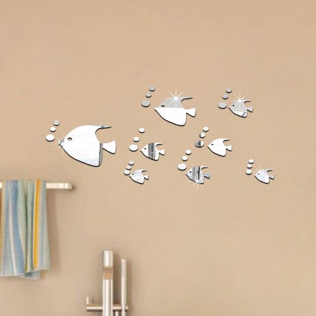 US $4.09 18% di SCONTO|Bolla di Pesce Bagno In Acrilico Specchio Wall  Stickers Per Bambini Camera Da Letto Soggiorno Camere Complementi Arredo  Casa 3D ...
