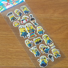 music Cartoon Bubble Little Yellow the film Sticker Classic Toy Baby Bubble Sticker Kids Scrapbook Gift Reward Sticker(China)