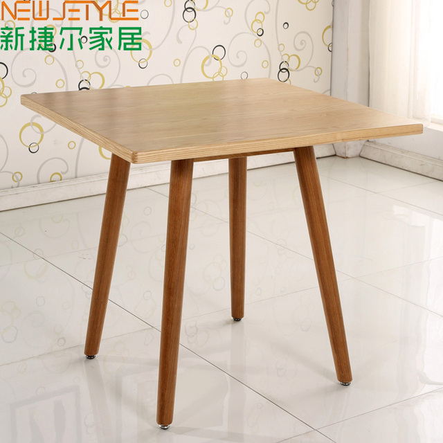 Small Square Table Coffee Ikea Nordic Solid Wood Simple Logs Anese Oak Dining