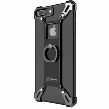 For iphone 7 plus capa handy phone stand cover Nillkin metal tough back Cover ring shape holder for iphone 7 plus case 5.5 inch